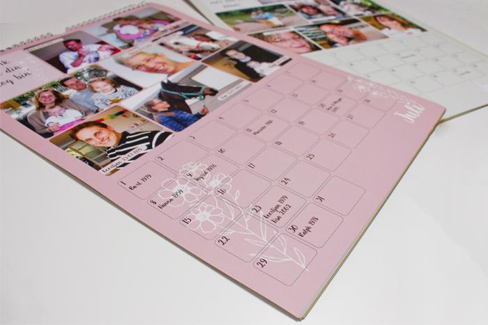 familiekalender oma 90 jaar binnenkant Portfolio bij Bis