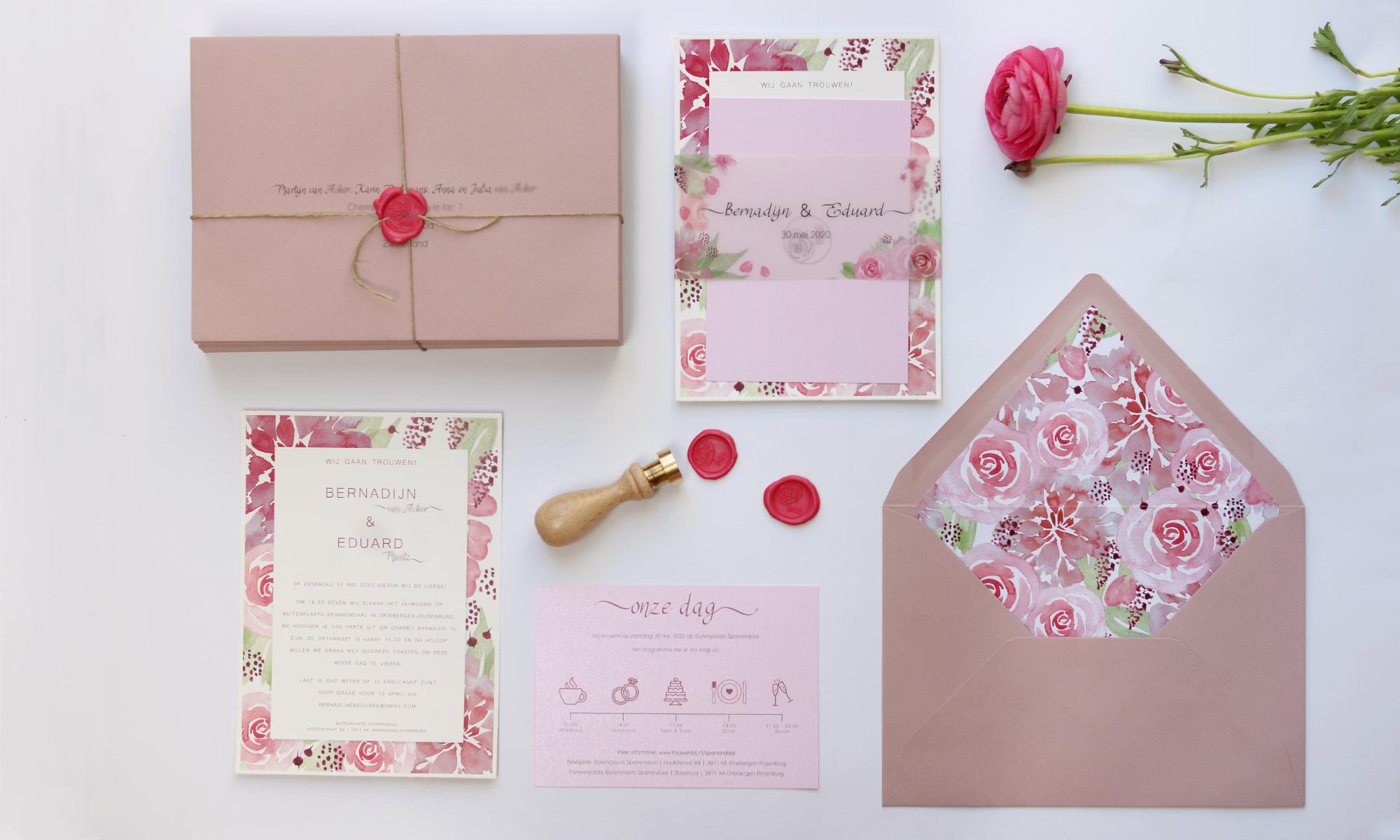 bij Bis bijzondere trouwkaart en wedding stationary